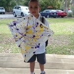 Well done Grant, thanks for all your help making the kites! He wins a pyscadelic design kite!
